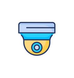 cctv camera icon in logotype vector image