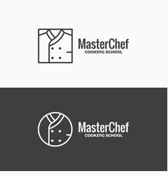 Chef uniform icon chefs jacket linear logo on vector