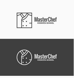 Chef uniform icon chefs jacket linear logo on vector