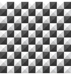 chessboard pyramid seamless pattern vector image