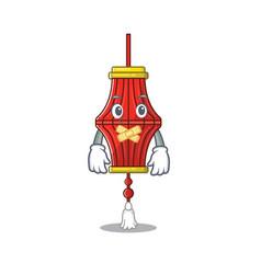 Chinese paper lanterns mascot cartoon character vector