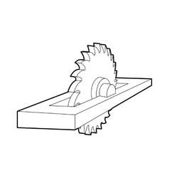 Circular saw icon outline style vector image vector image
