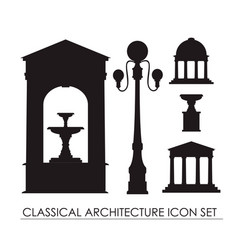 Collection classical small architectural forms vector