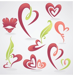 collection of love concept labels and form vector image vector image
