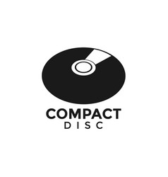 Compact disc cd graphic design template vector