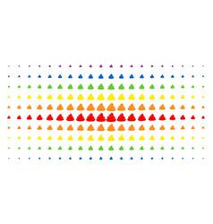 Crap spectrum halftone array vector