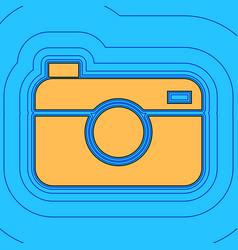Digital photo camera sign sand color icon vector