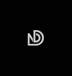dn or nd abstract outstanding professional vector image
