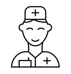 Doctor thin line icon medic vector