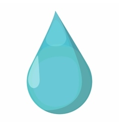 Drop cartoon icon vector image