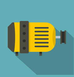 Electric motor icon flat style vector