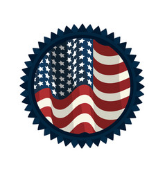 emblem with flag of usa inside vector image