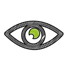 Eye view symbol icon vector