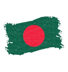 flag of bangladesh grunge abstract brush stroke vector image