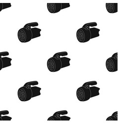 flashlighttent single icon in black style vector image