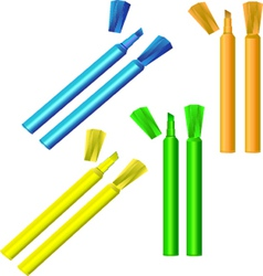 fluorescent highlighters vector image