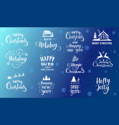 fonts holidays vector image