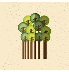 forest trees design vector image