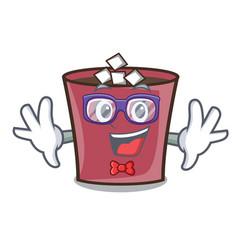 Geek hot chocolate character cartoon vector