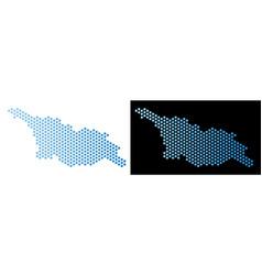 Georgia map hex-tile mosaic vector