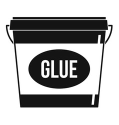 Glue icon simple style vector