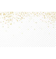 gold confetti celebration carnival ribbons luxury vector image