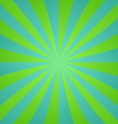 Green blue retro ray design background vector image