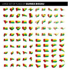 guinea bissau flag vector image