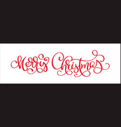 hand lettering merry christmas text vector image