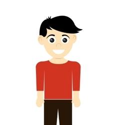 happy boy with tan skin icon vector image