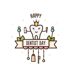 happy dentists day vector image