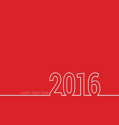 happy new year 2016 color vector image