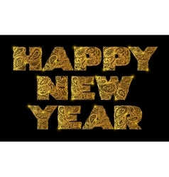 Happy new year Quote lettering vector image