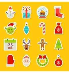 Happy New Year Stickers vector image