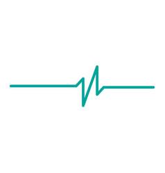 heart rhythm ekg isolated on white background vector image