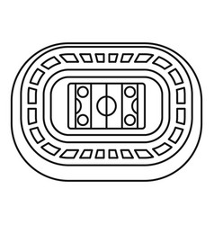 Ice hockey arena icon outline style vector