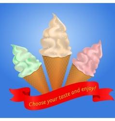 icecream cone vector image