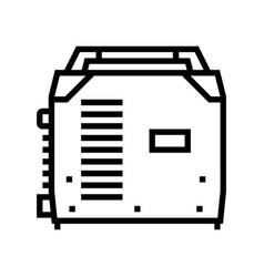 Inverter welding line icon vector