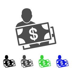 investor flat icon vector image