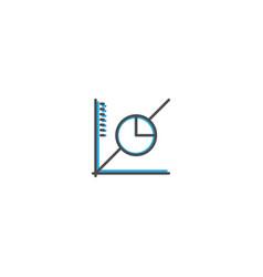 line graph icon design marketing icon line vector image