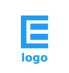 Logo E letter Isolated on white background vector