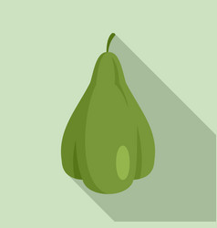 Mexican chayote icon flat style vector