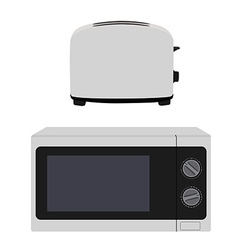 Microeave and toaster vector image
