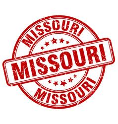Missouri red grunge round vintage rubber stamp vector
