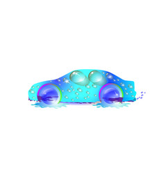 most top-end blue car in drops of water car vector image