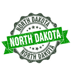 north dakota round ribbon seal vector image