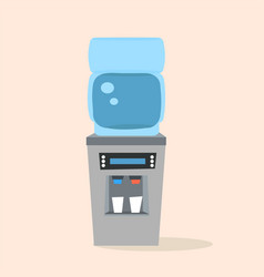 office plastic water cooler with full blue bottle vector image