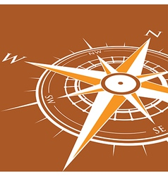 orange compass vector image