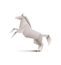 Origami horse isolated on white vector image