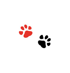 paw print couple icons vector image